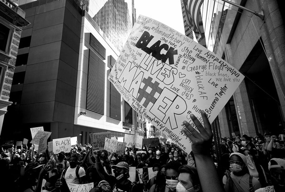 Demonstrators in Baltimore protest the murder of George Floyd (Devin Allen)