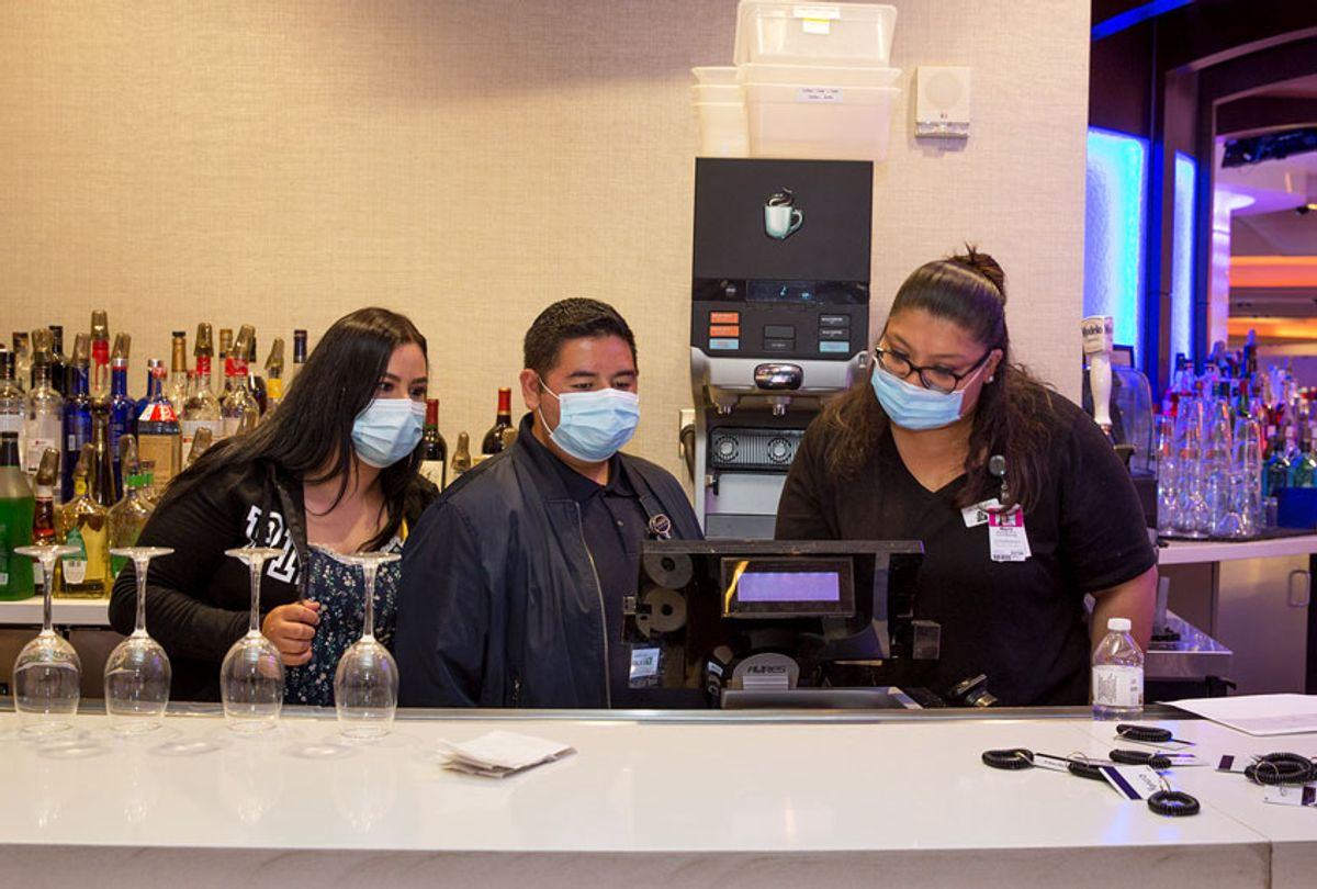 Bar and hospitality workers prepare to reopen on June 10 after a three-month closure due to Covid-19  (Getty Images)