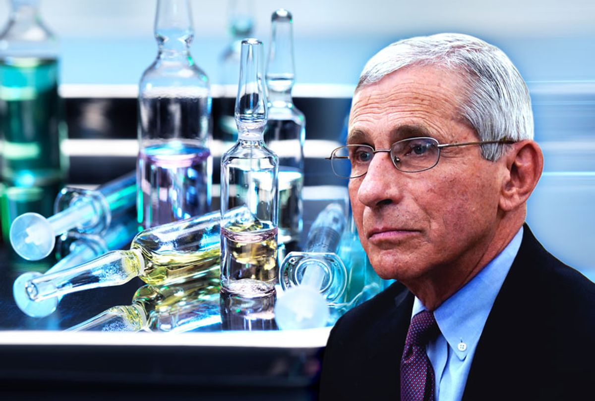 Anthony Fauci   Vaccine Vials (Salon/Getty Images)