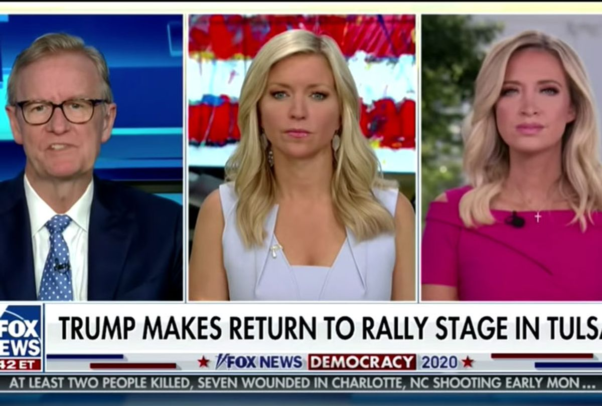Fox & Friends hosts with guest Kayleigh McEnany (Fox News)