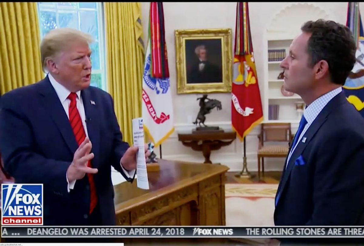 Brian Kilmeade interviewing US President Donald Trump (Fox News)