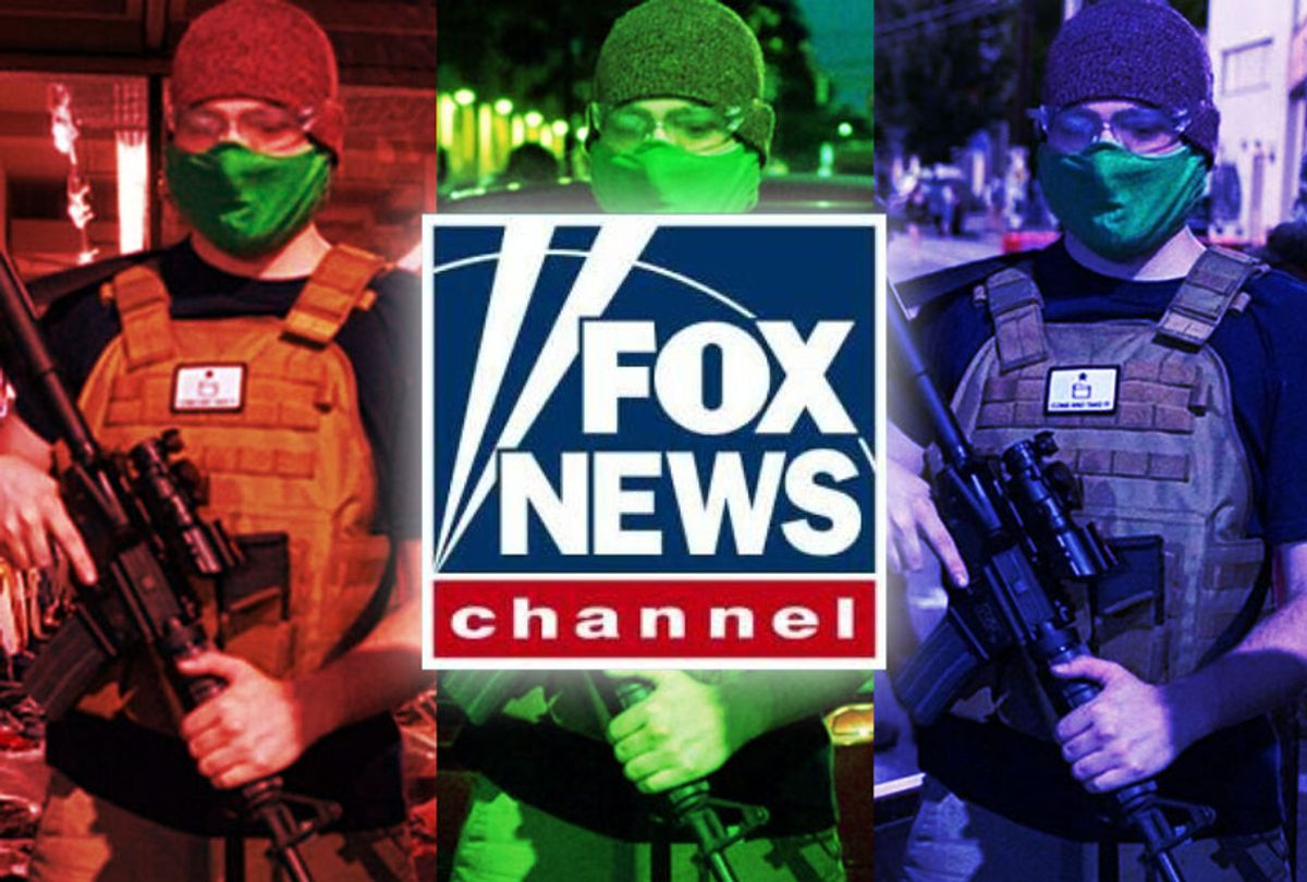 Fox News   Doctored images of a man holding an assault rifle (Photo illustration by Salon/Getty Images)