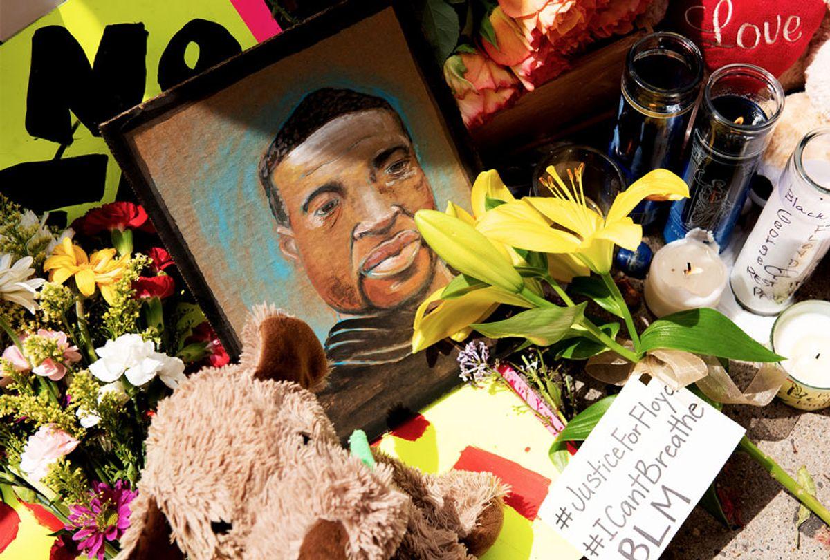 The memorial for George Floyd (Steel Brooks/Anadolu Agency via Getty Images)