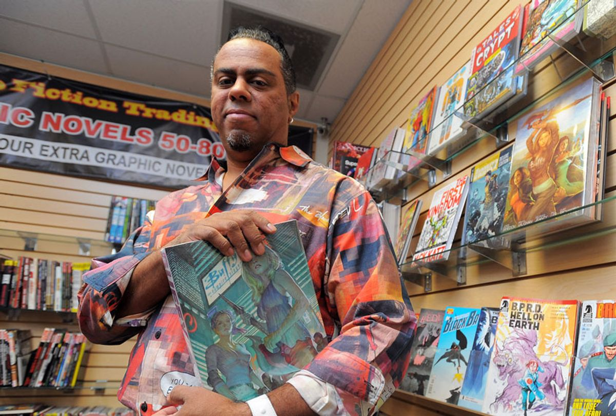 Comic book artist and Seal Beach resident Georges Jeanty at Pulp Fiction comic book store in Long Beach, CA (Getty Images/Scott Varley/Digital First Media/Torrance Daily Breeze)