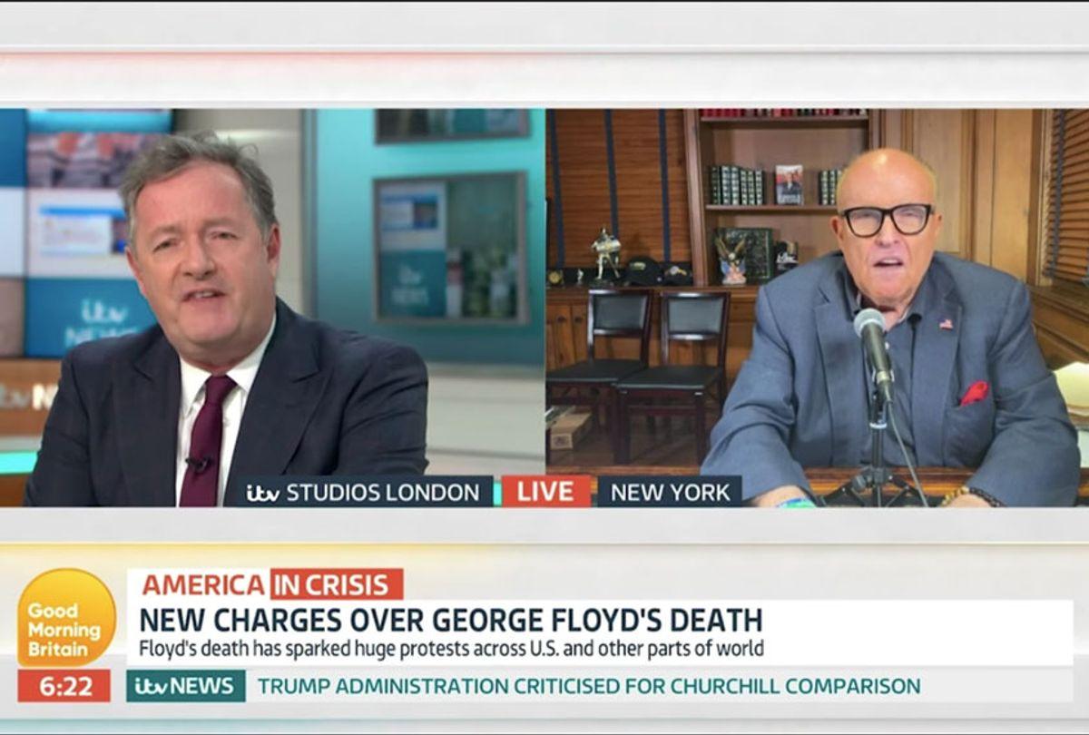 Piers Morgan and Rudy Giuliani Clash over Donald Trump's Tweets (Good Morning Britain)