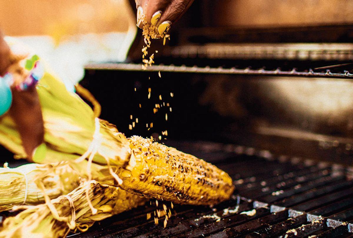 Jerk Spiced Grilled Corn (Anisha Sisodia/Penguin Random House)
