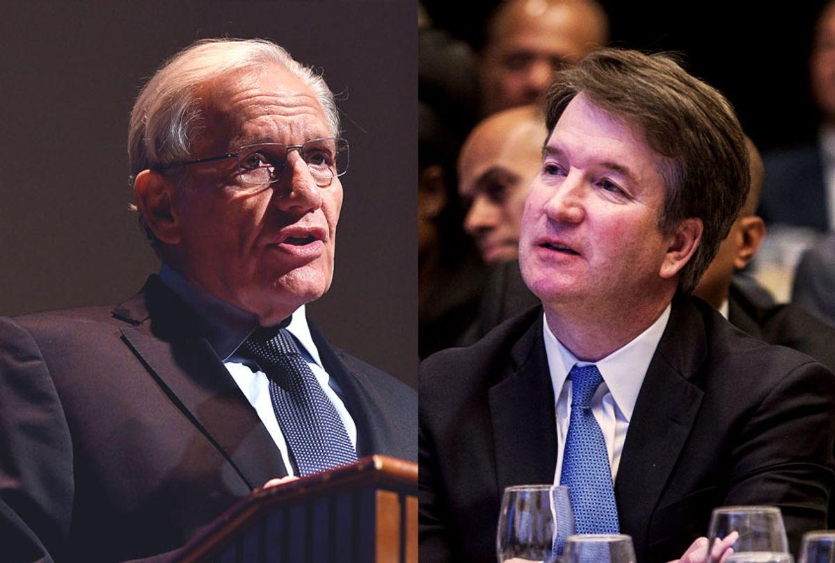 Bob Woodward and Brett Kavanaugh (Getty Images/Salon)