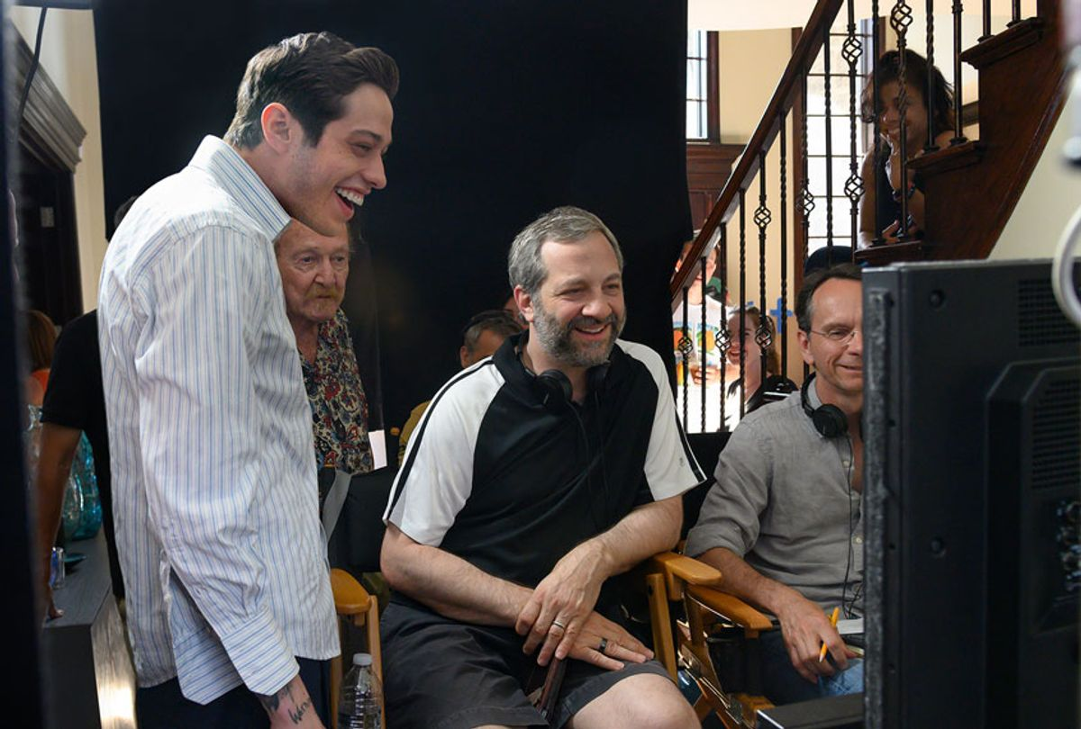 """Pete Davidson & Judd Apatow behind the scenes of """"The King of Staten Island"""" (Universal)"""