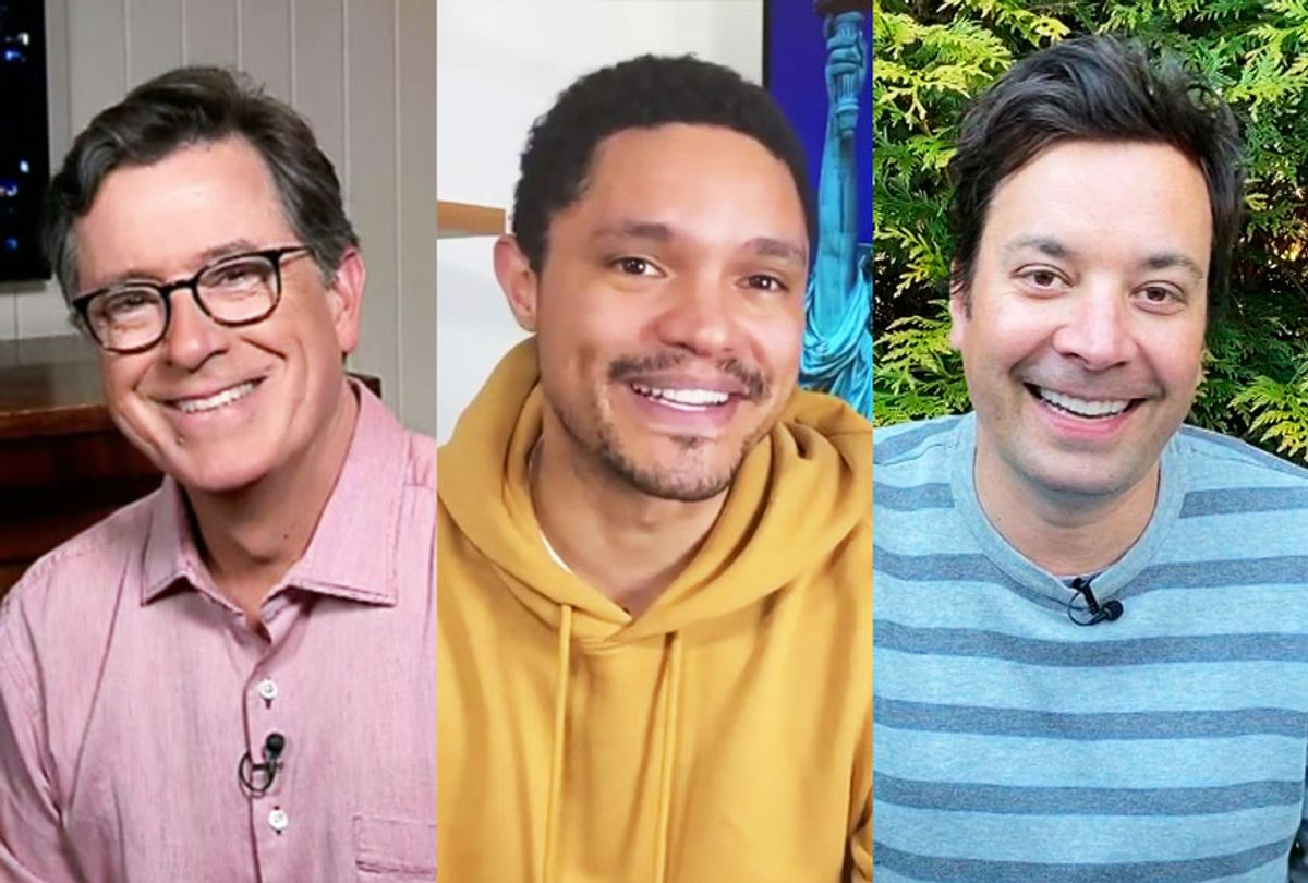 The Late Show with Stephen Colbert, The Daily Show With Trevor Noah,  The Tonight Show Starring Jimmy Fallon (CBS/Comedy Central/NBC)