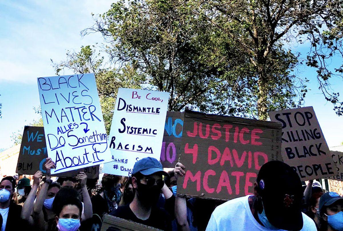 Protest on June 1 in Oakland, Calif. (Nicole Karlis)