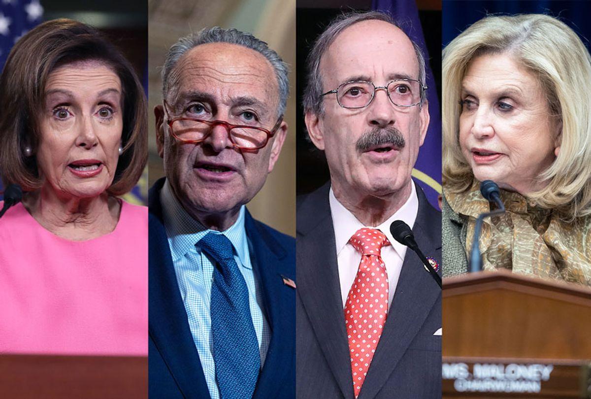Nancy Pelosi, Chuck Schumer, Eliot Engel and Carolyn Maloney (Getty Images/Salon)