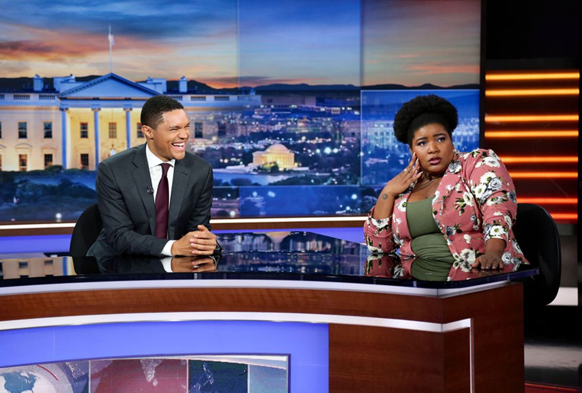 """Trevor Noah and Dulce Sloan in """"The Daily Show"""" (Comedy Central)"""