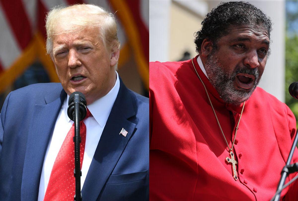 US President Donald Trump   Rev. Dr. William J. Barber II (Getty Images/Salon)