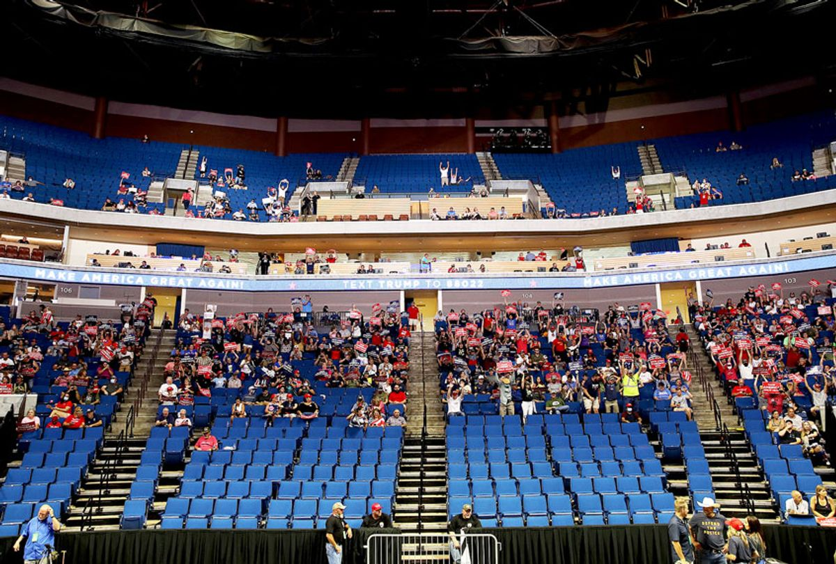 Campaign rally for U.S. President Donald Trump at the BOK Center, June 20, 2020 in Tulsa, Oklahoma. (Getty Images)