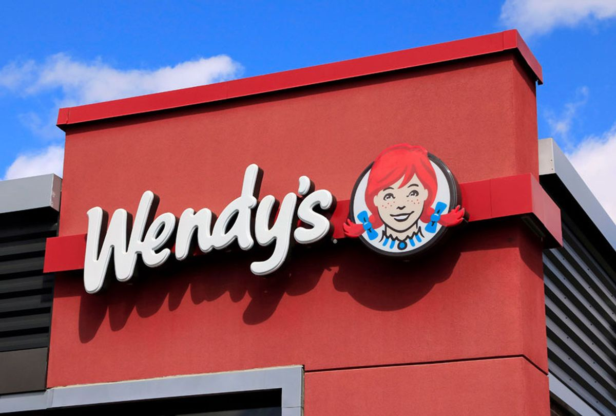 Wendy's hamburger business logo on storefront (Don & Melinda Crawford/Education Images/Universal Images Group via Getty Images)