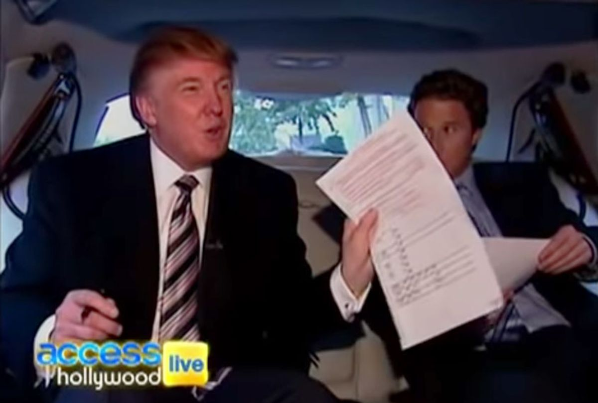 Back in 2004, Billy Bush followed Donald Trump as he was going to vote in New York City, but things turned sour very quickly when a mix-up occurred with The Donald's polling location. (Access Hollywood/Youtube)