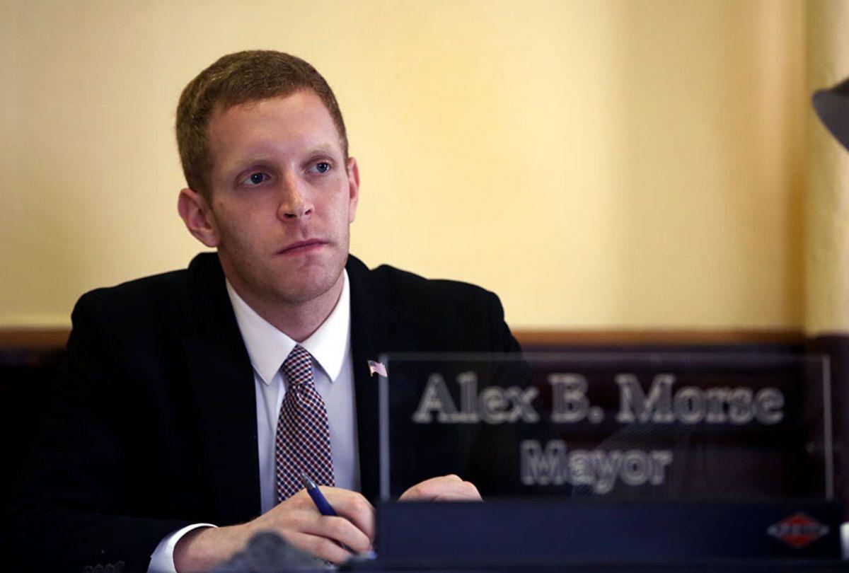 Alex B. Morse, Mayor of Holyoke, Mass.  (Pat Greenhouse/The Boston Globe via Getty Images)