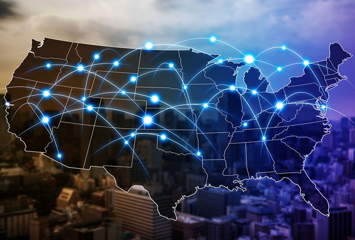 The internet communication network of the United States of America (Getty Images)