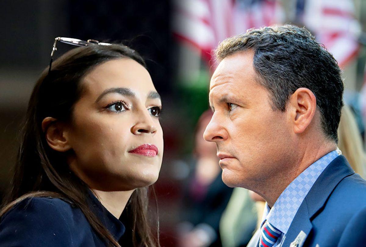 Alexandria Ocasio-Cortez and Brian Kilmeade (Getty Images/Salon)