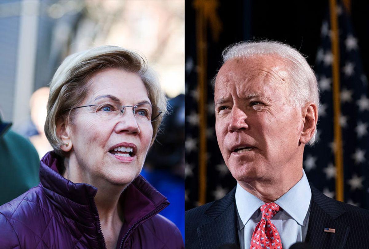 Elizabeth Warren and Joe Biden (Getty Images/Salon)