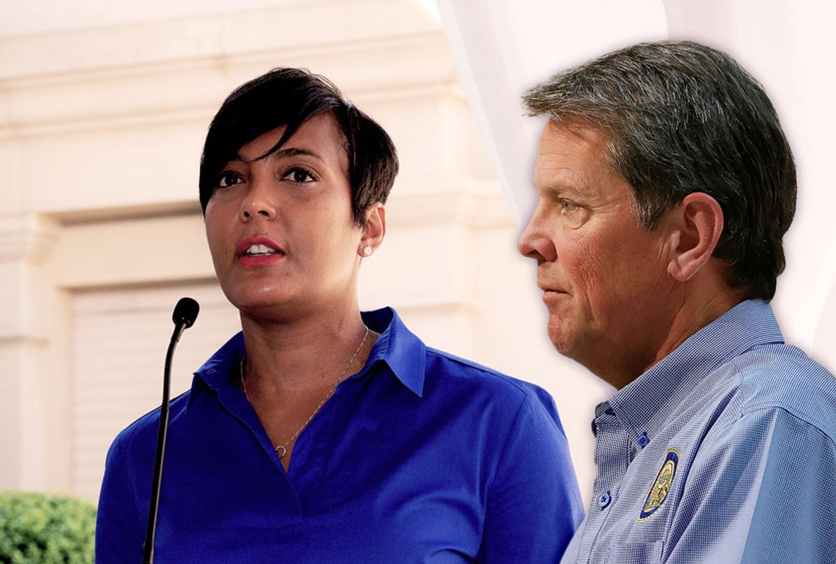 Mayor Keisha Lance Bottoms and Governor Brian Kemp (Getty Images/Salon)