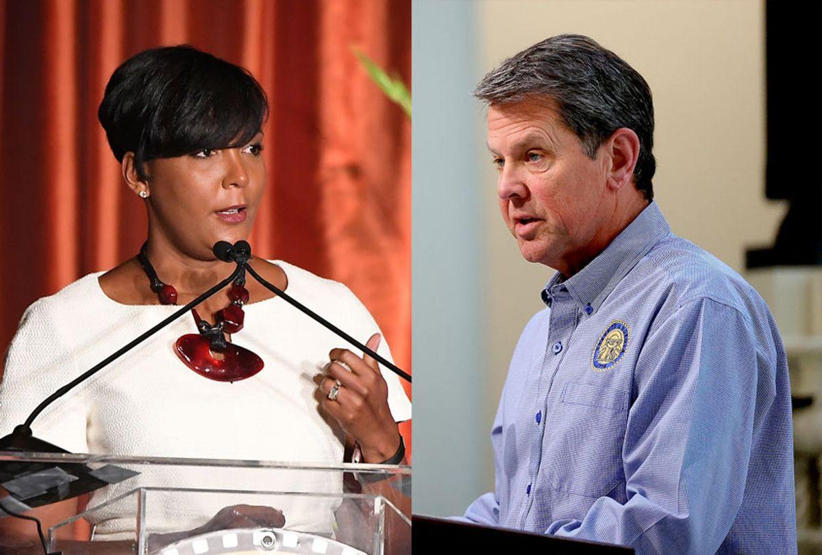 Atlanta mayor Keisha Lance Bottoms and Georgia Governor Brian Kemp (Getty Images/Salon)