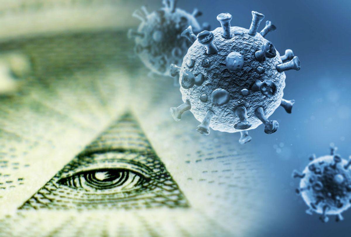 Illuminati triangle on a dollar bill | COVID-19 (Getty Images/Salon)