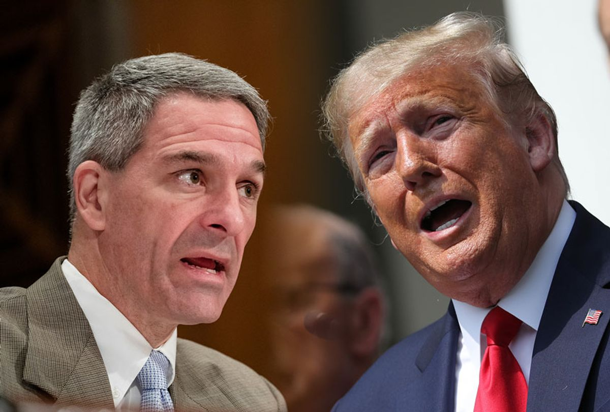 Homeland Security Deputy Secretary Ken Cuccinelli and President Donald Trump (Getty Images/Salon)