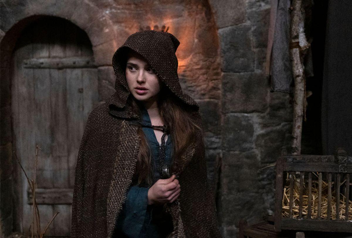 "Katherine Langford as Nimue in ""Cursed"" (LUDOVIC ROBERT/Netflix)"