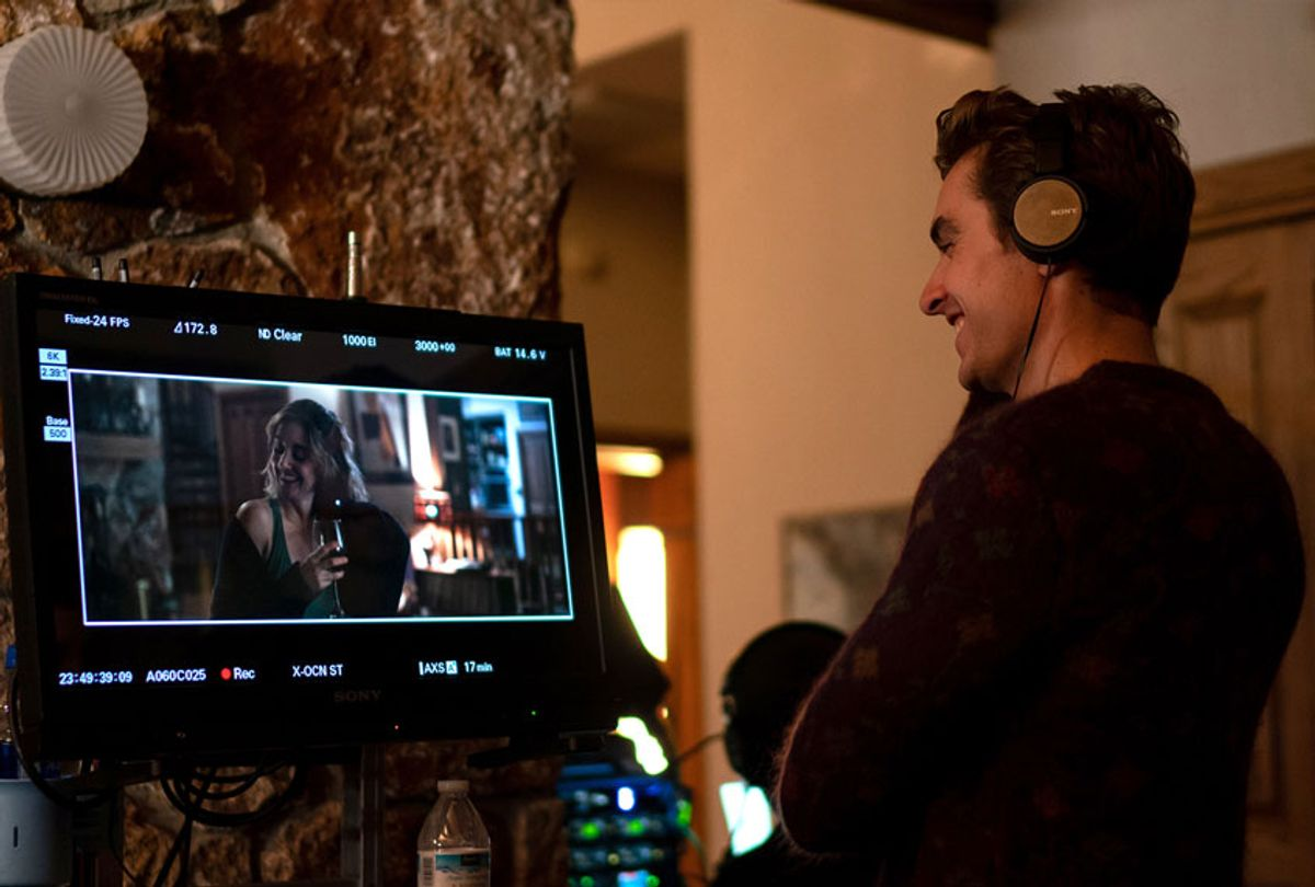 """Dave Franco directing """"The Rental"""" with Alison Brie on the monitor (IFC Films)"""