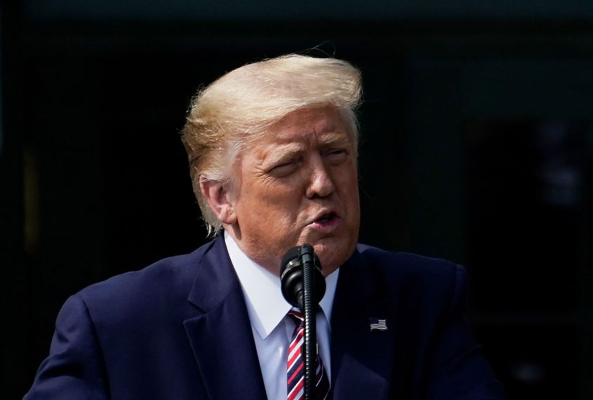 U.S. President Donald Trump speaks on the South Lawn of the White House on July 16, 2020 in Washington, DC.  (Drew Angerer/Getty Images)