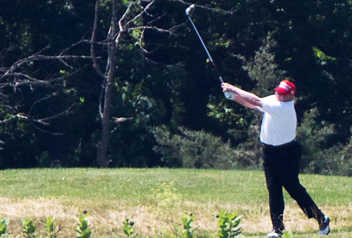 U.S. President Donald Trump golfs at Trump National Golf Club (Tasos Katopodis/Getty Images/Salon)