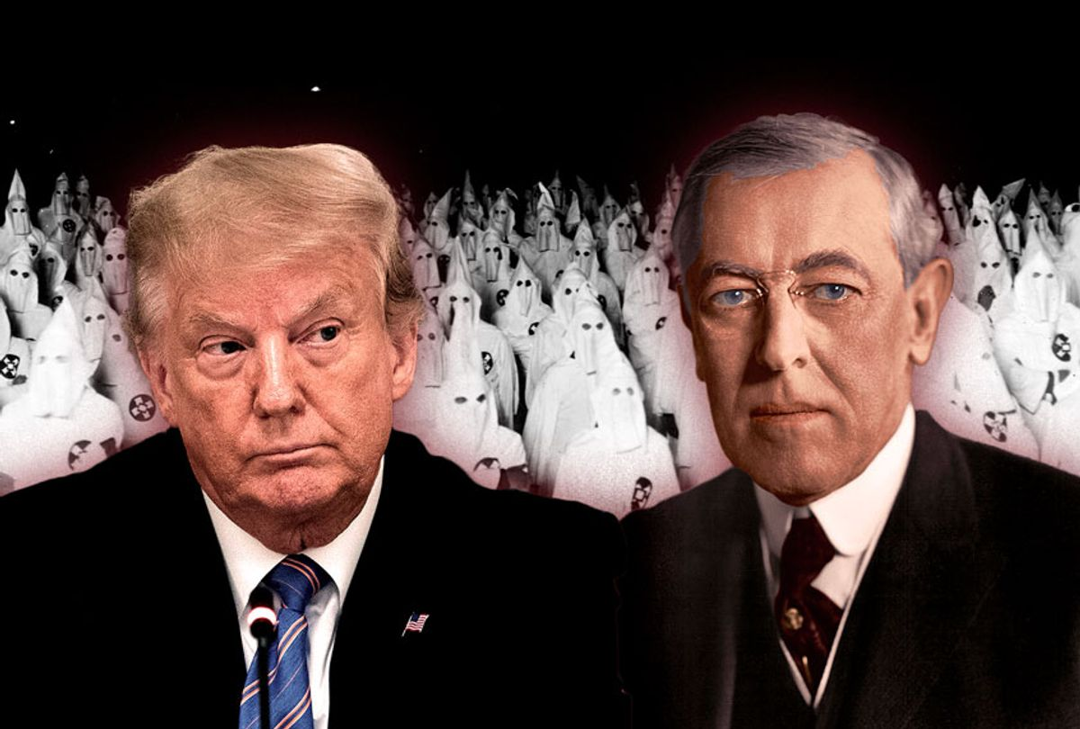 Donald Trump and Woodrow Wilson (Photo illustration by Salon/Getty Images)