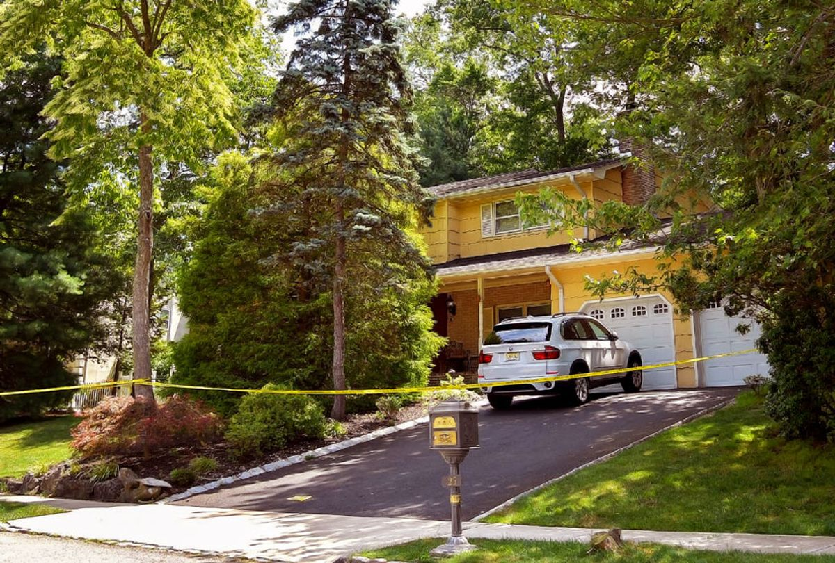 A view of the home of U.S. District Judge Esther Salas. on July 20, 2020 in North Brunswick, New Jersey. Salas' son, Daniel Anderl, was shot and killed and her husband, defense attorney Mark Anderl, was injured when a man dressed as a delivery person came to their front door and opened fire. Salas was not injured. US marshals and the FBI are investigating. (Michael Loccisano/Getty Images)