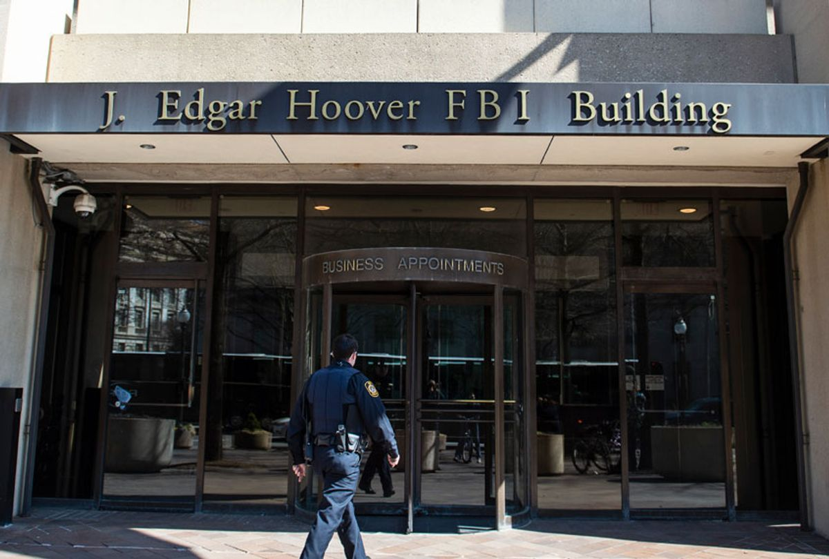The J. Edgar Hoover Building of the Federal Bureau of Investigation (FBI) (ERIC BARADAT/AFP via Getty Images)