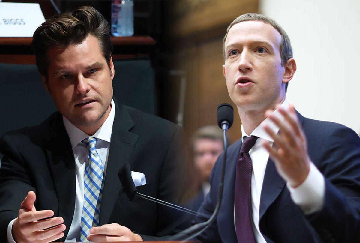Matt Gaetz and Mark Zuckerberg (Getty Images/Salon)