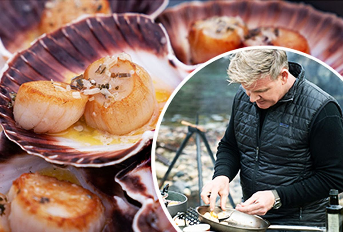 Hand-Dived Sea Scallops   Gordon Ramsey (National Geographics)