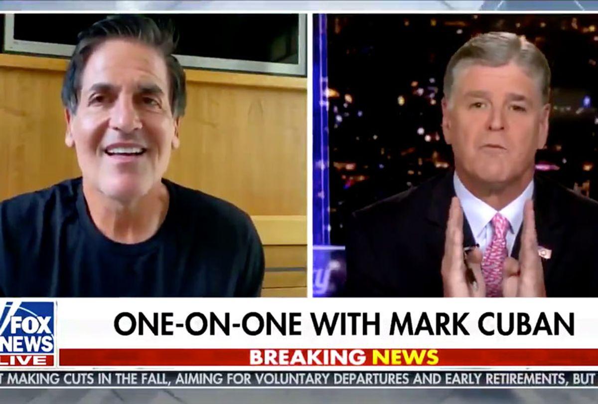 Sean Hannity and Mark Cuban (Fox News)