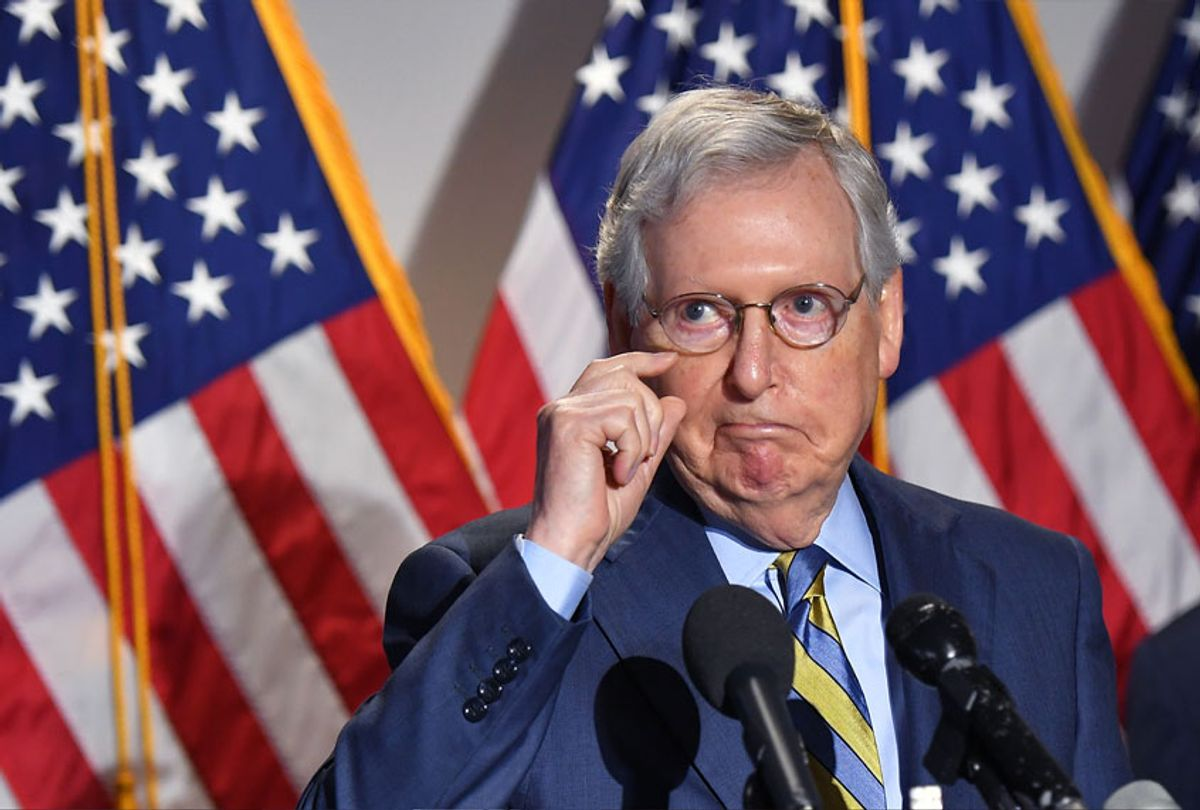 Senate Minority Leader Mitch McConnel (MANDEL NGAN/AFP via Getty Images)
