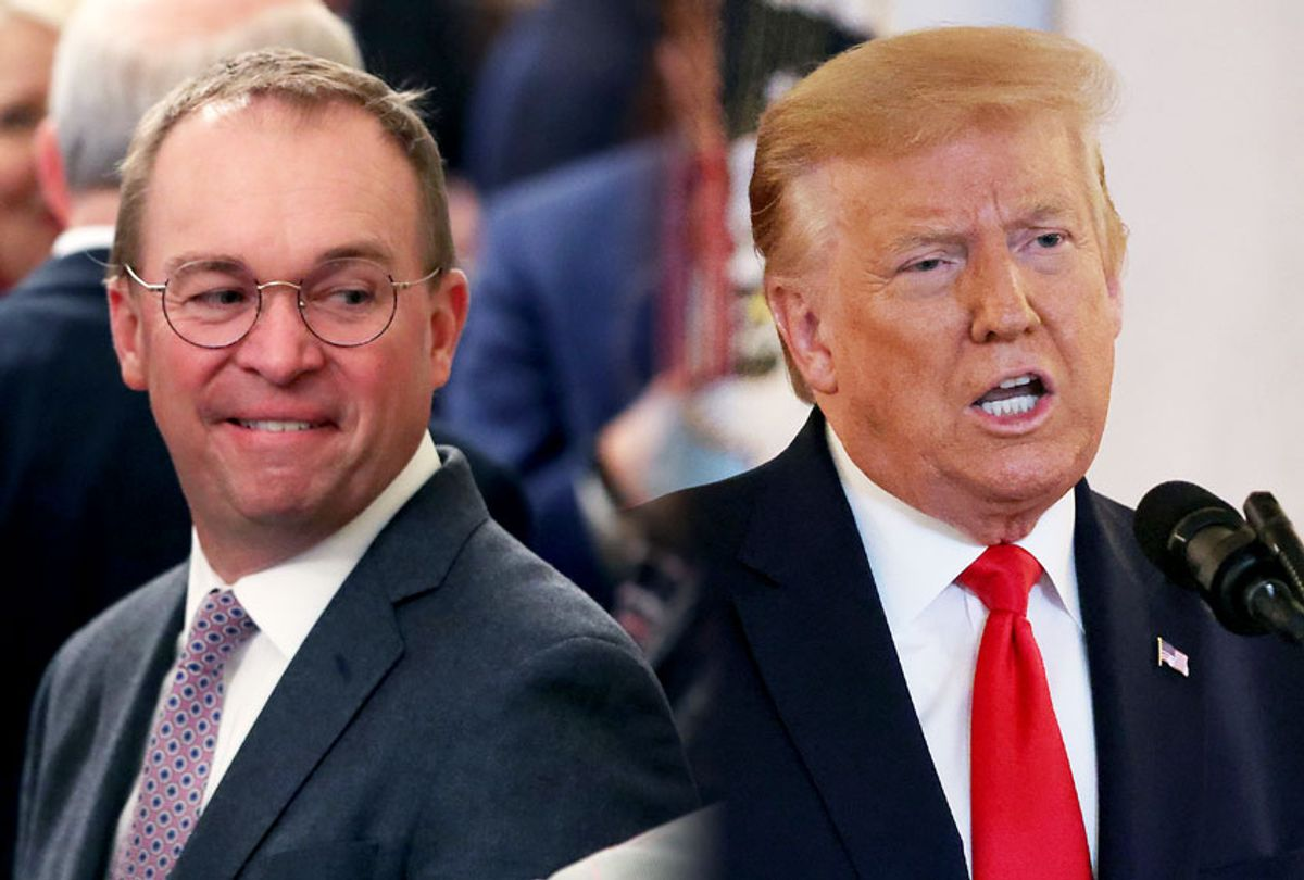 Mick Mulvaney and Donald Trump (Getty Images/Salon)