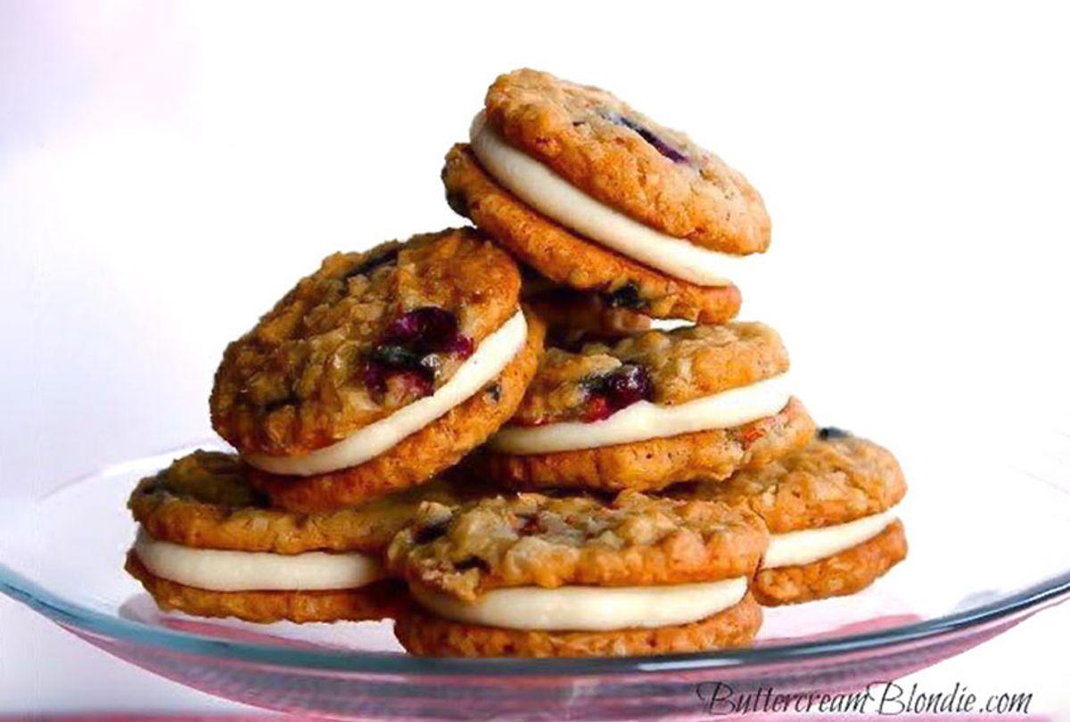 Blueberry Bliss Oatmeal Cream Pies (Meghan McGarry/Buttercream Blondie)