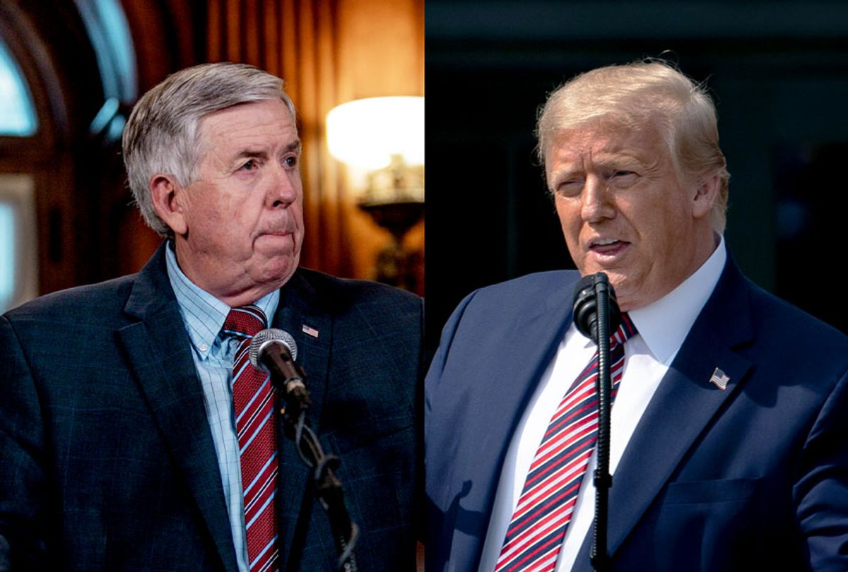 Gov. Mike Parson and President Donald Trump (Getty Images/Salon)