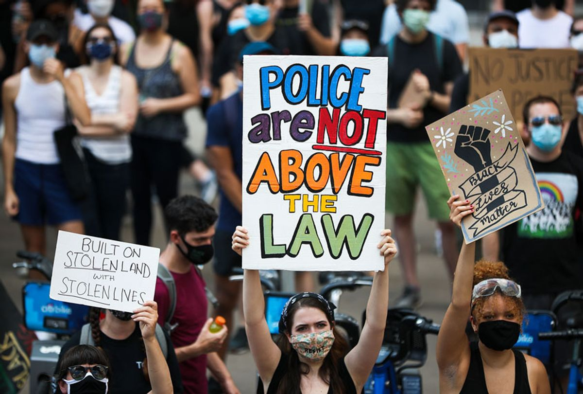 Anti-racism protests continue in New York City (Tayfun Coskun/Anadolu Agency via Getty Images)