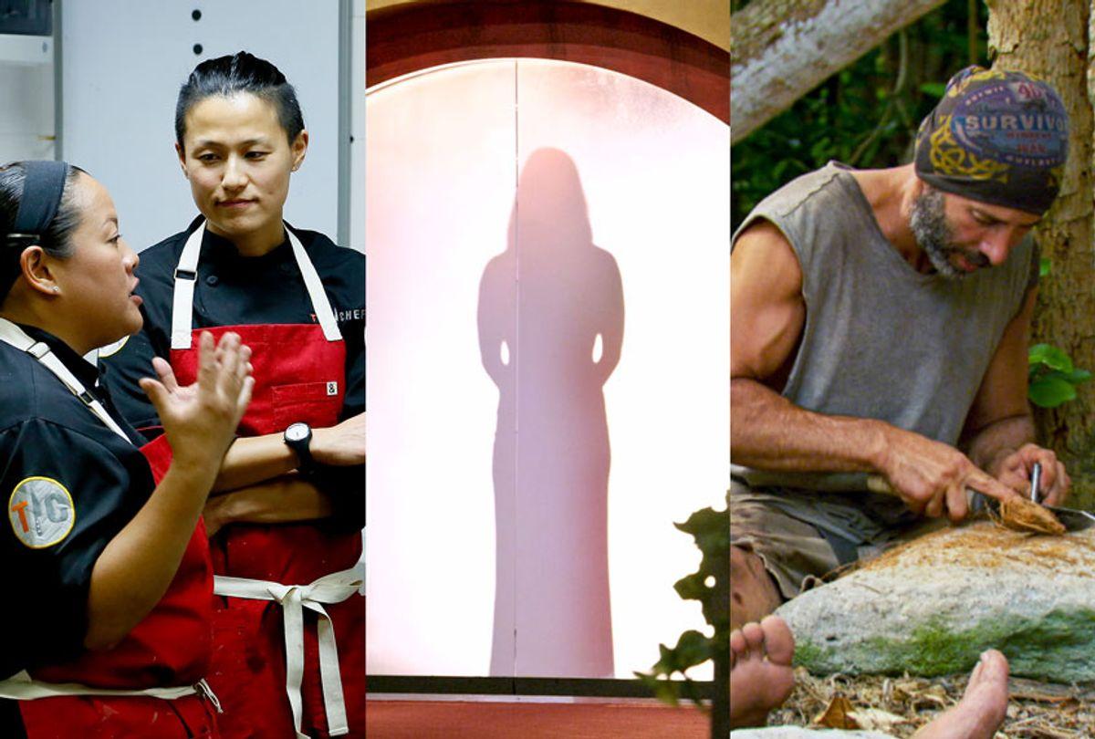 Top Chef, Love Is Blind and Survivor (Netflix/Bravo/CBS)