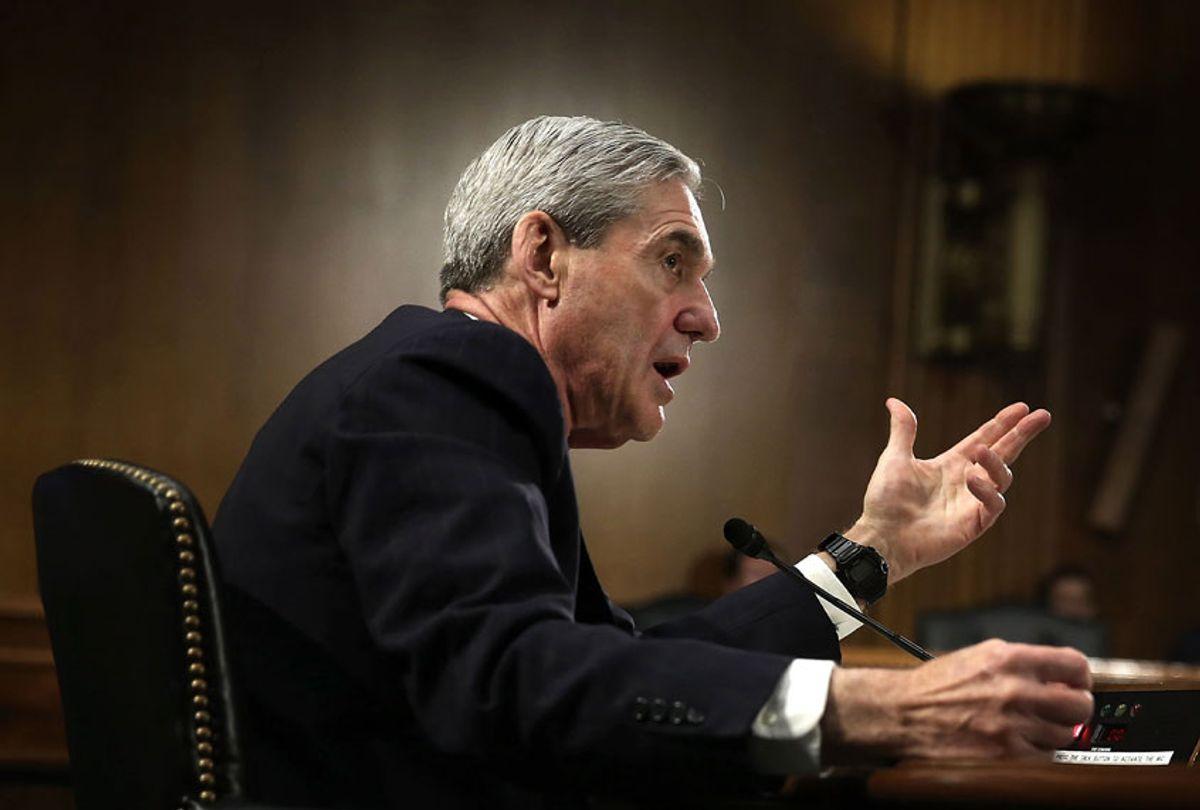 Federal Bureau of Investigation (FBI) Director Robert Mueller testifies during a hearing before the Senate Judiciary Committee (Alex Wong/Getty Images)