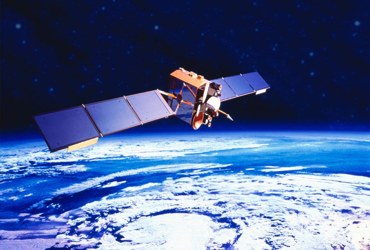 Communications satellite orbiting Earth (Getty Images)