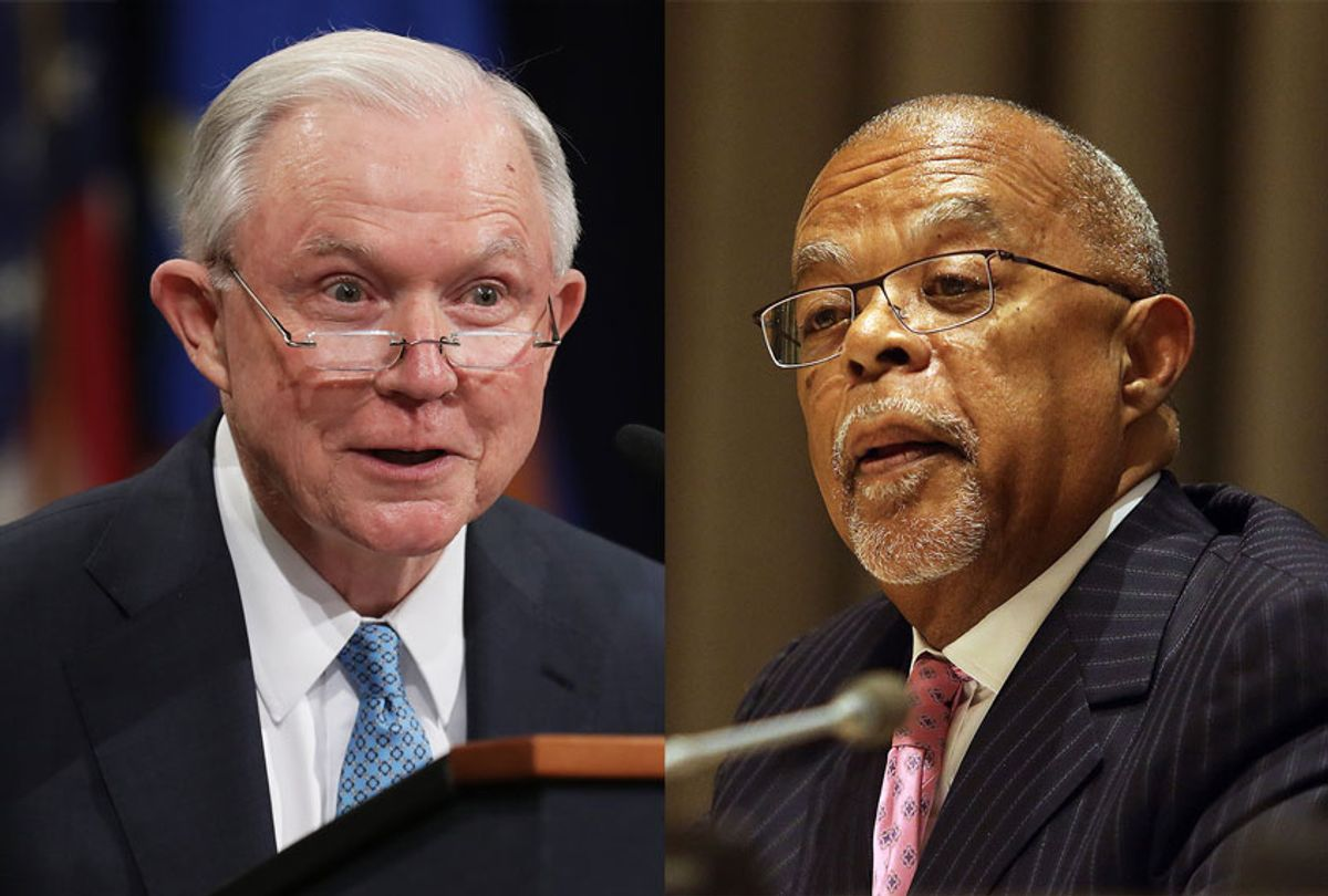 Former U.S. Attorney General Jeff Sessions and Professor Henry Louis Gates Jr (Getty Images/Salon)