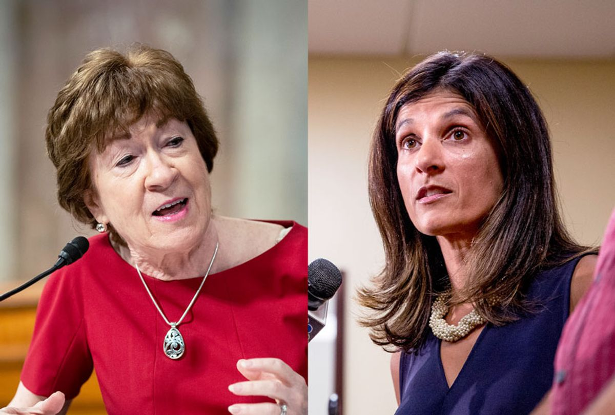 Sen. Susan Collins and Rep Sara Gideon (Getty Images/Salon)