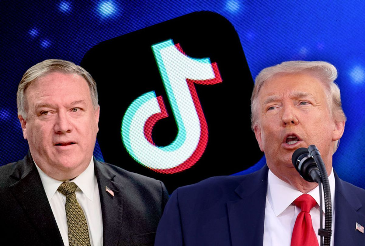 Donald Trump, Mike Pompeo, and TikTok (Getty Images/Salon)