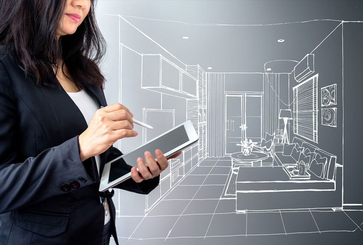 Architect / Interior designer working with modern futuristic virtual drawing home (Getty Images)